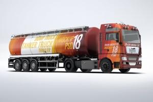 半挂车半挂卡车外观喷漆图案样机模板 Trucks Mock-Up插图3