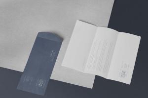 6款企业品牌VI设计展示信封&信纸样机模板 6 Envelope & Letter Mockups插图2