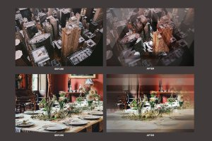 几何科幻照片效果处理PSD模板 Geometric Haze Photoshop Template插图5