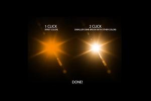 镜头眩光&星光效果PS笔刷 Lens Flare & Stars Photoshop Brushes插图4