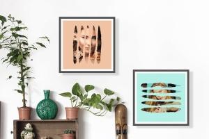 图片条纹笔刷蒙版遮罩PSD分层模板 Stripes Brush Photo Templates Vol 2插图2