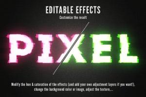 毛刺字体特效设计PSD模板 Photoshop Glitch Text Effects插图10