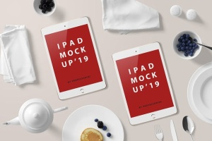 西式早餐场景iPad Mini设备展示样机 iPad Mini Mockup – Breakfast Set插图6