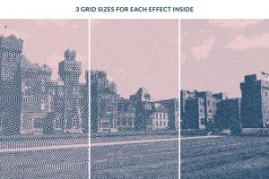 一键生成怀旧老照片效果PSD分层模板 Worn Press Photoshop Effects Kit插图3