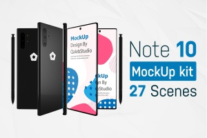 三星智能手机Note 10多角度预览样机模板 Note10 Kit插图1