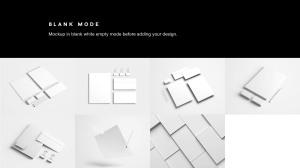 高端品牌VI设计办公用品预览样机PSD模板 Full Branding & Identity Mockup PSD插图10