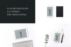 iPad & iPhone 真实场景样机模板 Minimal Mockup Pack Photorealistic插图3