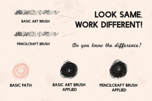 铅笔数码绘画AI画笔笔刷 Pencilcraft Brushes for Adobe Illustrator插图5