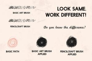 铅笔数码绘画AI画笔笔刷 Pencilcraft Brushes for Adobe Illustrator插图(5)