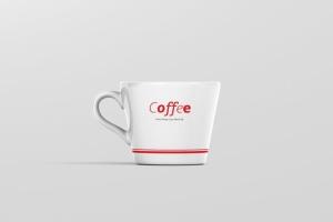 高品质的咖啡马克杯样机展示模板 Coffee Cup Mockup – Cone Shape插图7