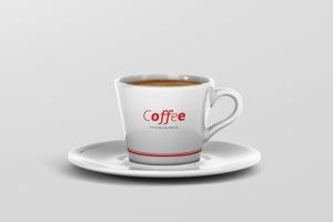 高品质的咖啡马克杯样机展示模板 Coffee Cup Mockup – Cone Shape插图2