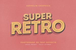 复古设计风格3D立体字体样式PSD分层模板v7 Vintage Text Effects Vol.7插图8
