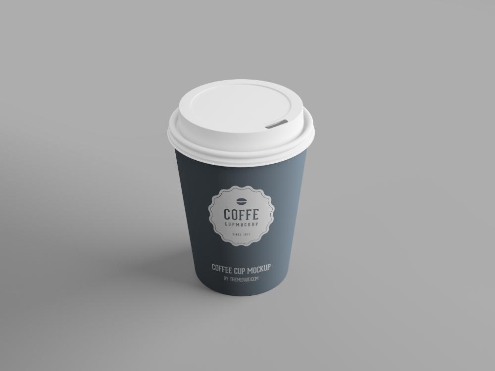 咖啡纸杯/一次性纸杯设计PSD样机模板 Free Disposable Psd Cup Mockup插图