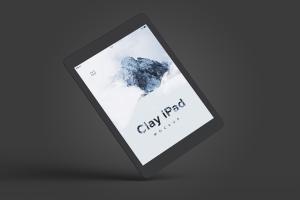 iPad平板电脑UI界面设计黏土样机06 Clay iPad 9.7 Mockup 06插图3