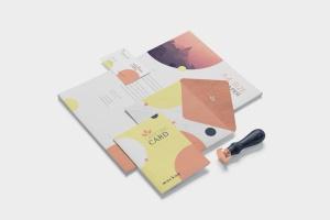 品牌VI体系设计方案办公用品预览图样机模板 5 Stationery Design Mockups插图3