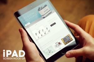 iPad平板电脑屏幕设备样机v4 iPad Screen Mockup v4插图1