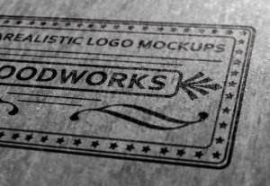 质感超级写实的经典品牌LOGO设计展示模型Mockups[PSD]插图6