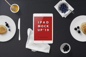 高品质的早餐场景的iPad Mini样机UI展示模型mockups插图6