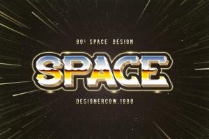 80年代复古风格文本特效文字样式v1 80's Style Text Mockups V1插图12