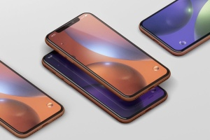 高品质iPhone XR智能设备样机 Phone XR Mockup插图1