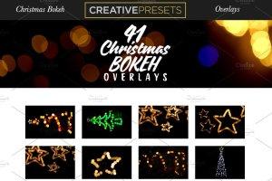 圣诞灯饰光影照片处理图层样式 Christmas Overlays for Photographers插图2