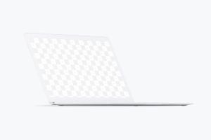 MacBook高端笔记本屏幕演示左前视图样机 Clay MacBook Mockup, Front Left View插图1
