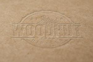 精致木纹浮雕logo样机模板 Wood Logo Mockups插图4