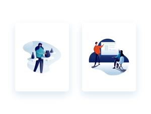 一流设计素材网下午茶:有创意的教育主题插画矢量素材下载[Ai]插图2