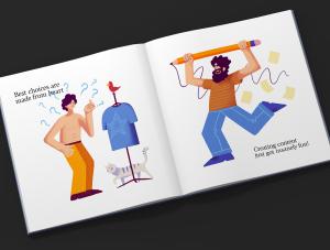 一流设计素材网下午茶:充满活力的矢量插画素材下载[PSD]插图(3)