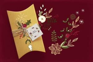 圣诞节主题矢量手绘剪贴画素材 Christmas Cliparts插图4