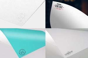 纸张印刷品Logo标志样机模板v1 Paper Logo Mock Up Pack vol 01插图1