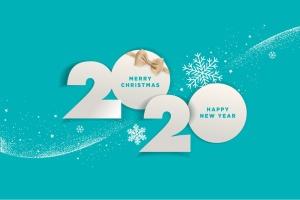 圣诞节庆祝暨迎接2020年主题矢量插画设计素材v2 Merry Christmas and Happy New Year 2020插图1