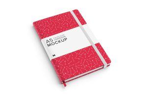 A5精装笔记本/记事本外观设计样机模板01 A5 Hardcover Notebook Mockup 01插图1