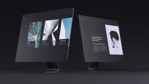 网站UI设计效果图预览黑色iMac电脑样机模板 Dark iMac Mockup插图14