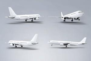 空客A321空中巴士中短程客机样机 Jet Airplane A321 Mock-Up插图4