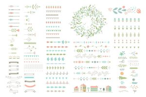 分享100个Illustrator装饰画笔 100 decor brushes for for AI插图2