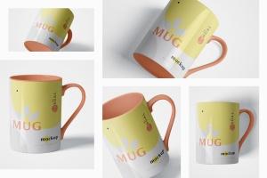 马克杯图案设计多视觉预览样机模板 5 Mug Mockups插图2