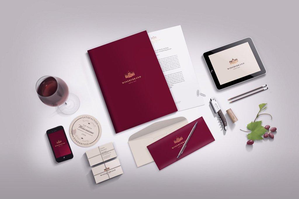 办公文具品牌展示样机模板 Stationery / Branding mock-up插图