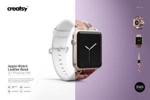 一流设计素材网下午茶:高品质的Apple Watch表带展示模型Mockup下载 1.27 GB[psd]插图1