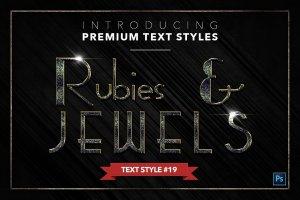 20款红宝石&珠宝文本风格的PS图层样式下载 20 RUBIES & JEWELS TEXT STYLES [psd,asl]插图20