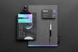 高端黑办公用品套装品牌VI设计效果图样机 Blck Branding Mockup Kit插图7