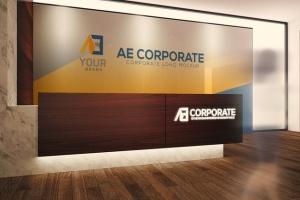 3D企业logo墙壁艺术样机模板 Corporate Logo Mockups V1插图4