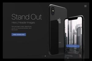 黑色iPhone X设备UI设计展示样机套装 iPhone X Mockup Set插图5