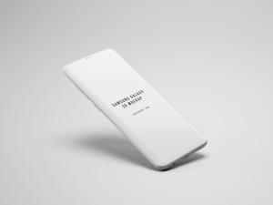 三星S9手机屏幕设计预览样机 Samsung S9 Phone Mockup插图2