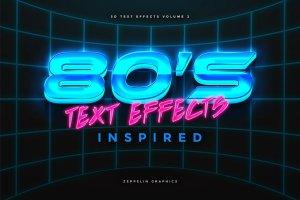 80年代文本图层样式 80s Text Effects插图1