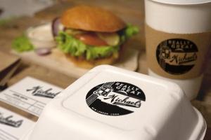 汉堡咖啡品牌样机模板 Burger Cafe Mockup插图6