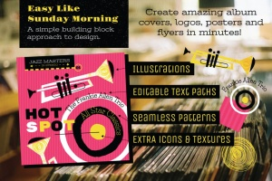 好莱坞经典音乐剧/老式爵士乐矢量插画&海报设计模板 Musical Illustrations and Poster Templates插图(8)