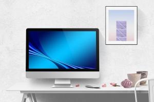 一体机电脑屏幕演示样机模板 Desktop Mockup插图1