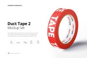 管道胶带图案设计效果图样机v2 Duct Tape Mock-up 2插图1