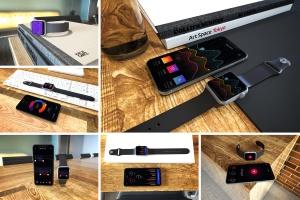 Apple智能手表&iPhone Xs手机样机模板 Apple Watch & iPhone XS插图1